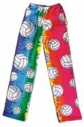 Fleece Volleyball Print Lounge Pants