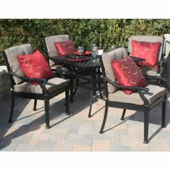 5 Piece Dining Set, Moncler Collection