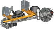 SAF CBX23 245 Fusion Self-Steer Axle