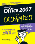Books, Office 2007 For Dummies