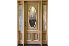 Solid Mahogany Front Entry Oval Decorative Door