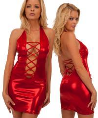 Lace Up Mini Dress in Mystique Volcano