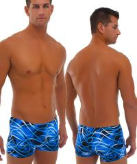Low Seamless Boxer in Blue Barbed Wire2