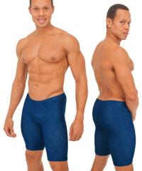 Bike-Gym Shorts in Blue Denim cotton/lycra®