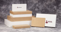White and Kraft Pop-Up Apparel Boxes