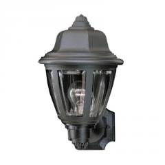 1-light Outdoor Wall Lantern in Black finish