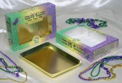 King Cake Box Mardi Gras