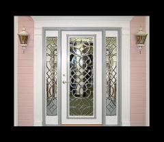 Beveled Glass Entry Doors DbyD-1007