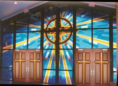 Church Stained Glass DbyD-7314