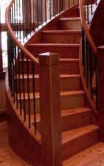 Curved Wood Stairs
