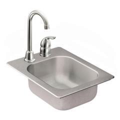 Camelot Stainless steel 20 gauge single bowl drop