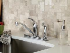Adler Chrome one-handle low arc kitchen faucet