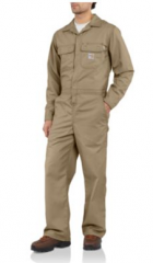 Men's Flame-Resistant Twill Coverall/Unlined
