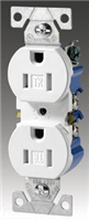 1 Gang Recp Wall PLT - Cooper Wiring Devices