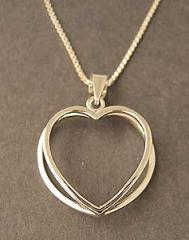 Gorgeous Sterling Silver Heart to Heart Pendant