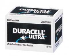 Duracell Ultra AA Alkaline Battery, 1.5 Volt,