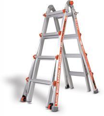Ladder 17' Ext / 7' stepfold Alum