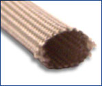 Heat treated fiberglass sleeving