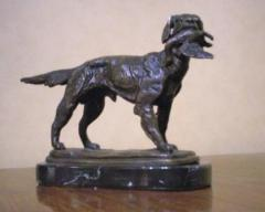 Dog with Duck, (6 Inches tall)