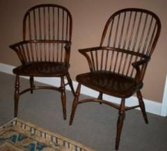 Windsor Stick Back Arm Chairs