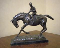 Horse and Jockey, (14 Inches tall)
