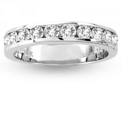14k Gold Channel Set Wedding Ring or Anniversary