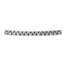 Pave-Set Round Diamond Part-Way Bangle Bracelet