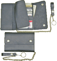 Credit Card Leather Trucker Wallet