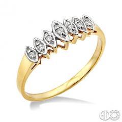 1/20 Ctw Round Cut Diamond Ring in 10K Yellow Gold