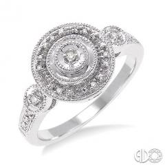 1/20 Ctw Round Cut Diamond Ring in Sterling Silver