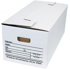 Letter Interlocking Flap File Storage Box