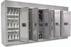 Metal enclosed capacitor banks and harmonic filter