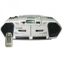 CD/Cassette Boom Box, Double Cassette Recorder/CD
