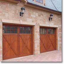 RiverPointe™ wood garage doors