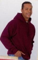 White Hanes Comfort Blend Hooded Sweatshirt