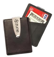 Leath. Card Case Money Clip