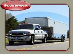 Gooseneck cargo trailers