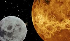 On The Moon And The Planet Venus Electronic