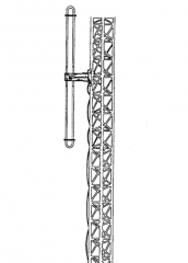 1-bay side-mount folded dipole antenna