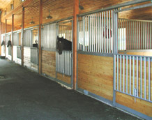 Square tube stall fronts & dividers