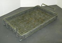 Expanded metal tote pan 13 x 21 x 2 1/2