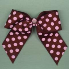 Chocolate and Pink Dot Bow