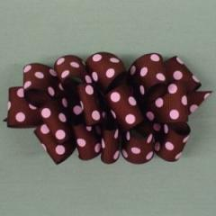 Chocolate and Pink Loopy Bow