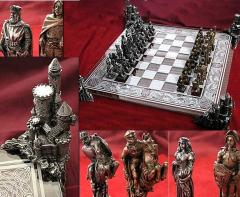 English vs. Viking Medieval Chess Set