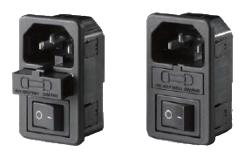 EC320-C14 AC Power Inlet, Fuse Holder With Rocker