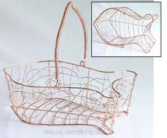 Copper reproduction Wire Fish Shape Container