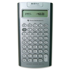 Professional Calculator BA II Plus