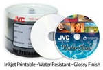JVC Taiyo Yuden 52X CD-R, WaterShield, White