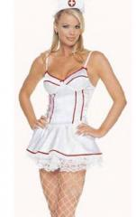 Plus Size Flirty Nurse Satin Costume