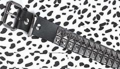 Funkplus 2 Row Black Pyramid Studded Belt